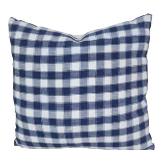 French Antique Linen Homespun Pillow For Sale