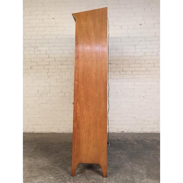 John Van Koert for Drexel Profile Mid-Century Walnut China & Display Cabinet - Image 5 of 8