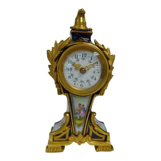 20th Century Belle Epoque Gilt Bronze Mounted Porcelain Clock For Sale