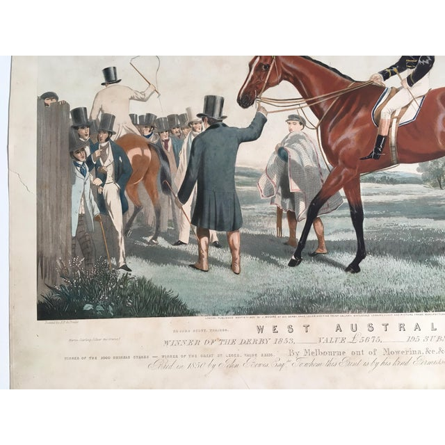 Chestnut English Horse Racing Print, C1853 For Sale - Image 8 of 13
