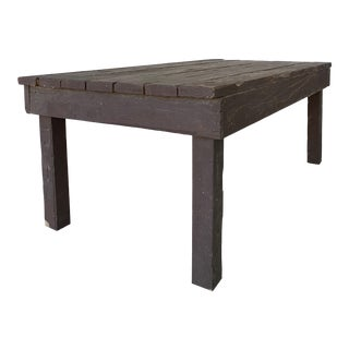 1970s Industrial Custom Made Dining Table For Sale