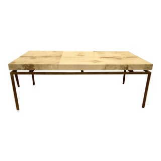 Modern Interlude Home Hampton Brass Coffee Table For Sale