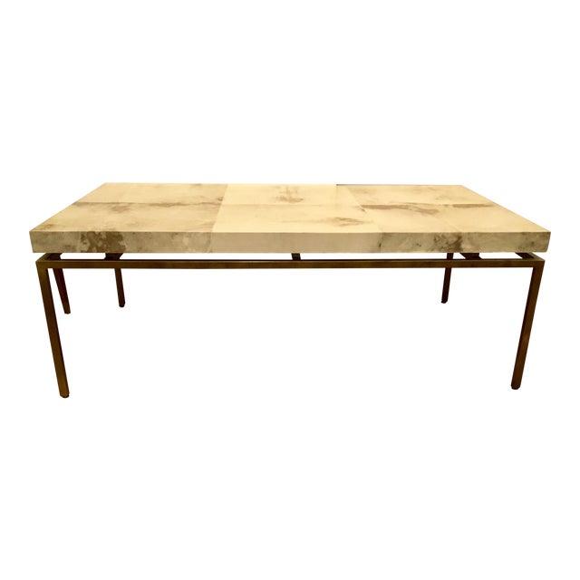 Modern Interlude Home Hampton Brass Coffee Table For Sale
