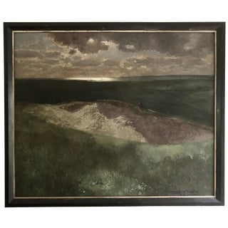 Antique Oil Painting Landscape by Bernhard Schroter For Sale