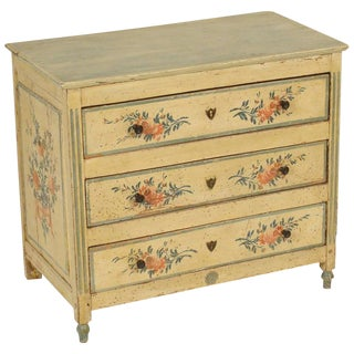 19th Century Louis XVI Style Painted Childs Chest of Drawers For Sale