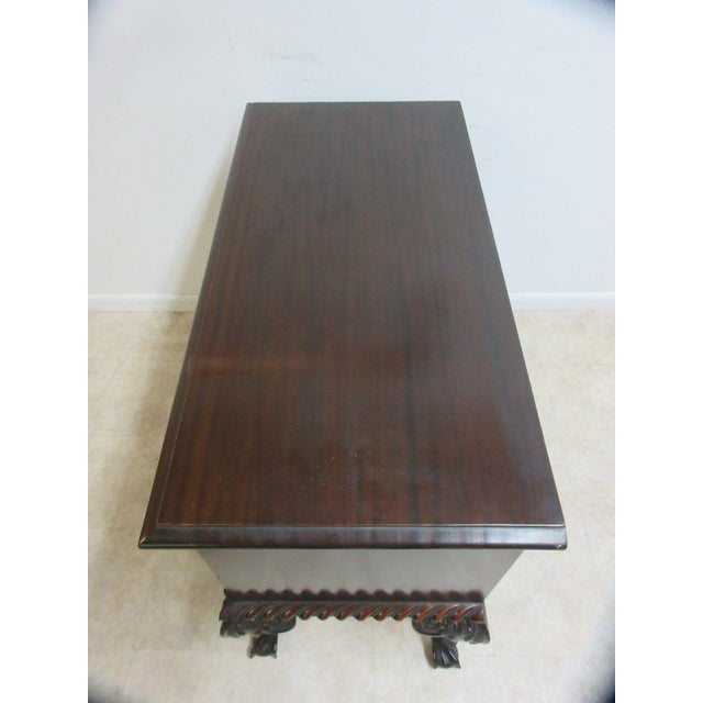 Antique Mahogany Ball Claw Chippendale Cupboard For Sale - Image 10 of 11