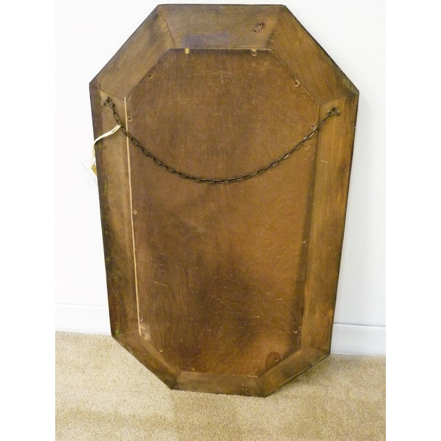 Gold Antique Repousse Shell Brass Beveled Wall Mirror For Sale - Image 8 of 8
