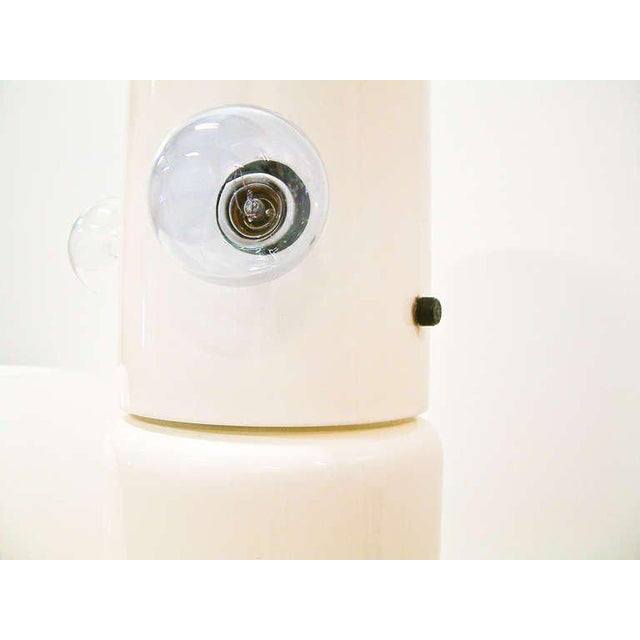 "Enamel Circa 1970 Martinelli Luce White ""Mushroom"" Table Lamp For Sale - Image 7 of 8"