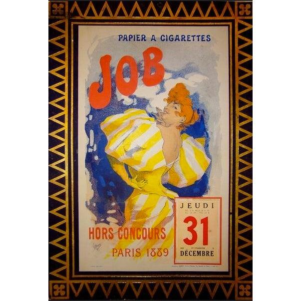 Japanese 1889 Original Vintage French Jules Cheret Poster, Job Calendar For Sale - Image 3 of 3