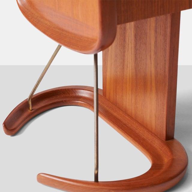 Arne Hovmand-Olsen An Arne Hovmand-Olsen teak Clock with interior cabinet For Sale - Image 4 of 8