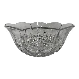1970s Round Crystal Bowl For Sale