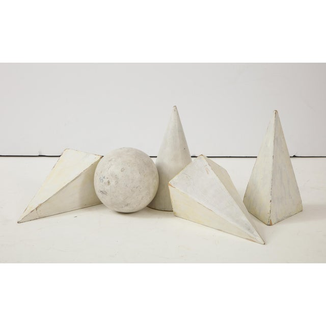 Early 21st Century White Painted Wooden Geometric Molds - Set of 5 For Sale - Image 5 of 10