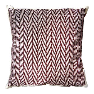 """Chocolate Color """"Chevrons"""" Throw Pillow For Sale"""