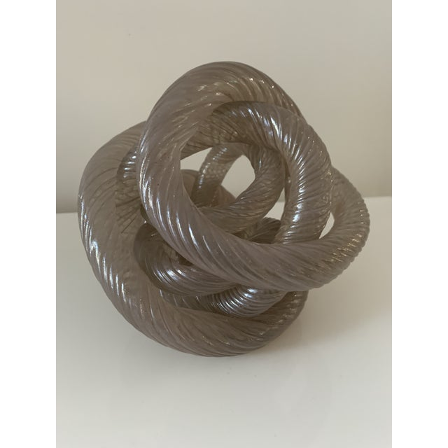 Mid 20th Century Twisted Rope Glass Knot Sculpture For Sale - Image 10 of 10