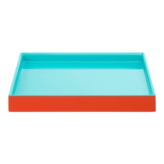 Pentreath & Hall Collection Small Tray in Orange / Tiffany Blue For Sale