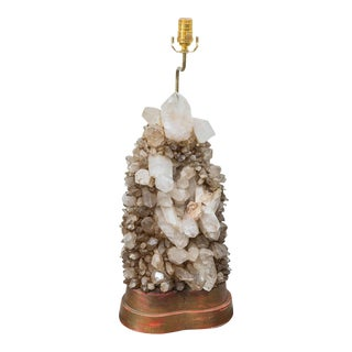 Carole Stupell Rock Crystal Lamp For Sale