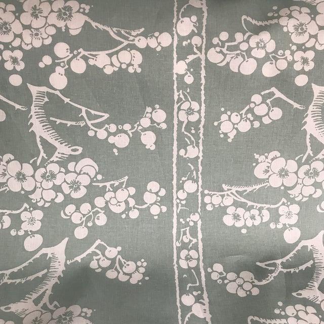 Ceramic China Seas Quadrille Hawthorne Linen Fabric - 2 Yards For Sale - Image 7 of 7