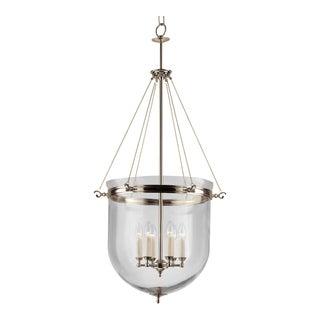Polished Nickel Lantern With Glass