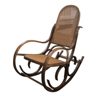 1970s Vintage Luigi Crassevig Rocking Chair For Sale