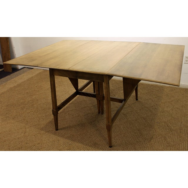Mid 20th Century Mid-Century Modern Heywood Wakefield Cadence Sable Drop Leaf Dining Table For Sale - Image 5 of 11