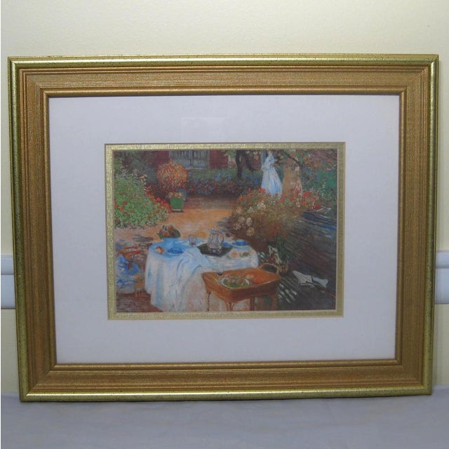 Impressionist Print in Hart Lake Gold Frame For Sale - Image 4 of 4