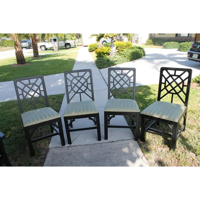 Fretwork Chinese Chippendale Dining Chairs - Set of 6 - Image 5 of 10