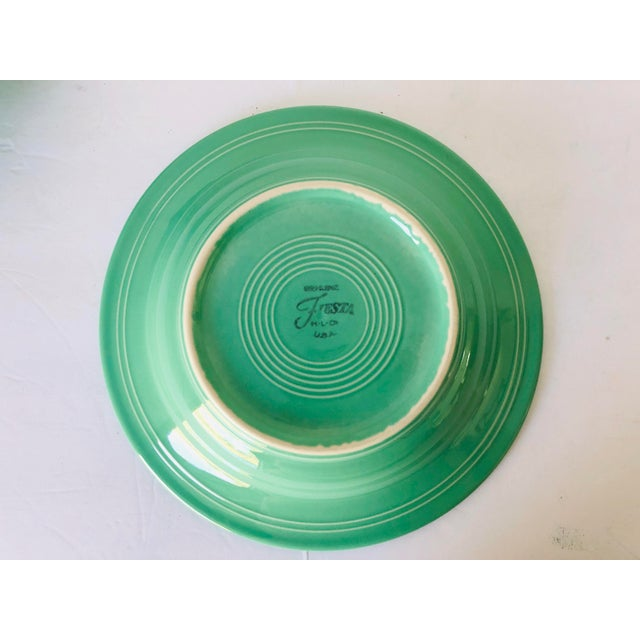 Fiesta Ware Green Soup Bowls S-2 For Sale - Image 4 of 5