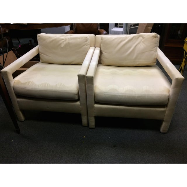 """Vintage Folio 500 Henredon upholstered chairs. Dimensions: 33"""" D x 29"""" W x 28"""" H x 28 1/2"""" seat depth x 17"""" seat height..."""