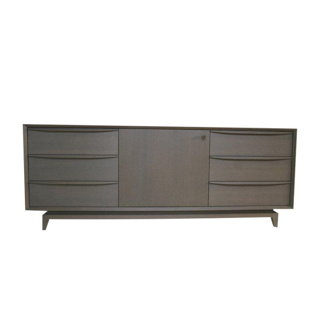 Customizable Orlando Sculpted Handle Credenza For Sale