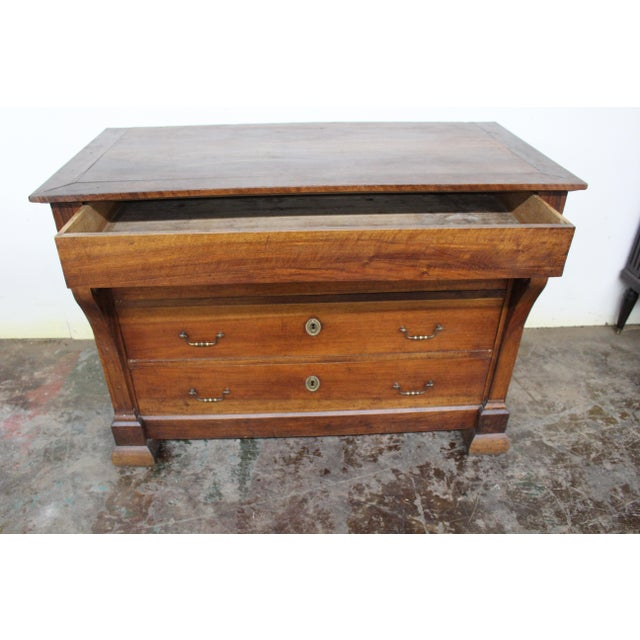 Early 19th Century 19th Century French Three Drawer Commode For Sale - Image 5 of 12