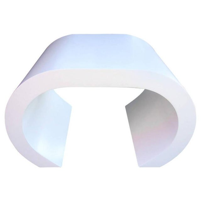 White Scroll Coffee Table or Side Table - Image 1 of 8