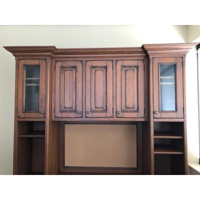 2010s Custom Built Desk With Storage Cabinetry For Sale - Image 5 of 12
