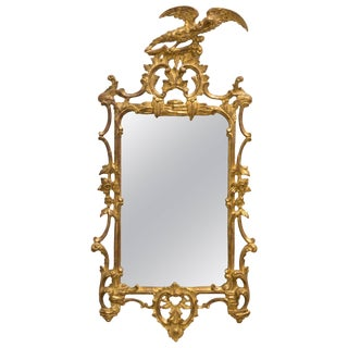 Italian Giltwood Eagle Mirror For Sale
