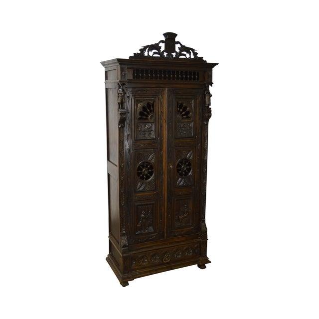 Antique Jacobean Flemish Carved Cabinet - Image 11 of 11