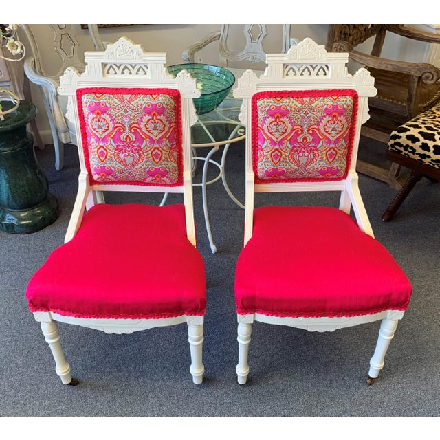 18th Century Antique Eastlake Chairs - A Pair For Sale - Image 4 of 13