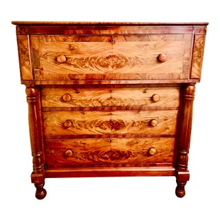 1850s Empire Mahogany Butler's Desk For Sale