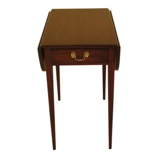 Henkel Harris Drop Leaf Mahogany Pembroke Table For Sale