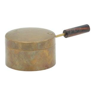 Carl Aubock Brass and Ebonized Wood Burner For Sale