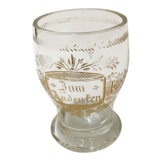 Etched Gold Script Cup For Sale