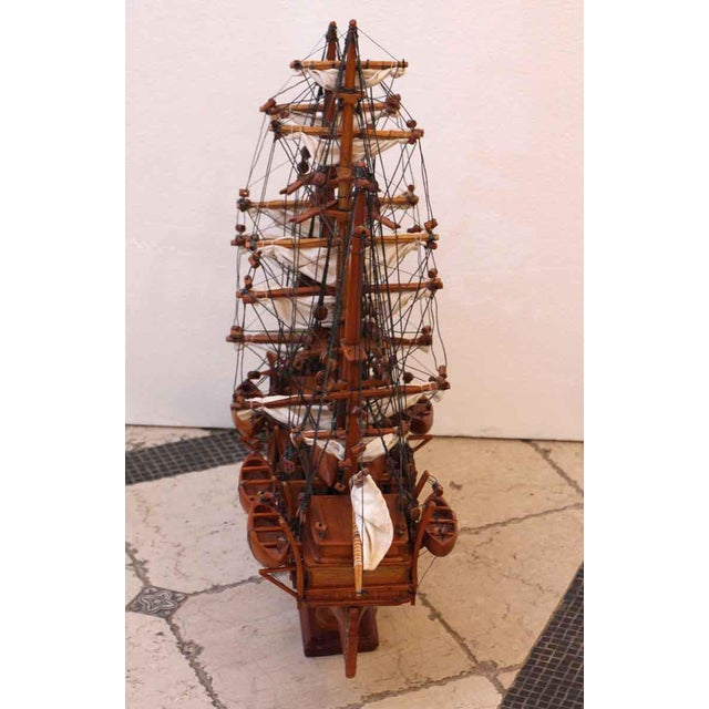 2000 - 2009 Traditional Hand Carved Ship Model For Sale - Image 5 of 10