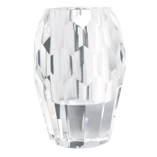 Contemporary Cut Crystal Caddy Candle Holder For Sale - Image 3 of 4
