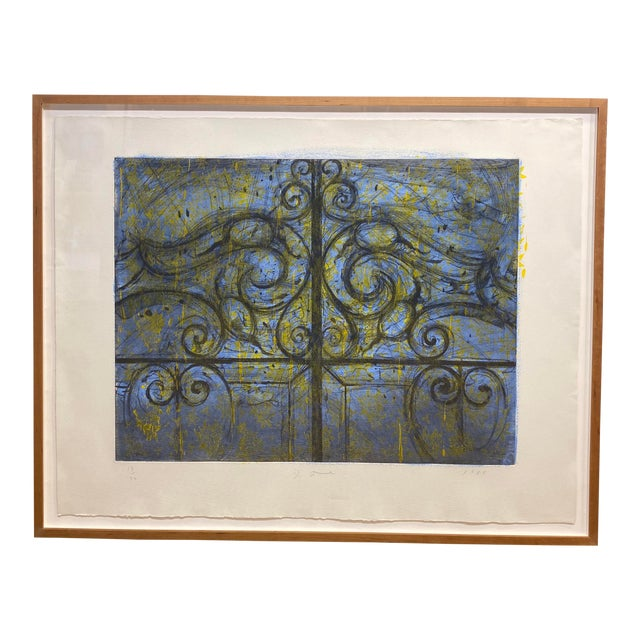 """Crommelynck Gate"" Lithograph Signed and Numbered by Jim Dine For Sale"