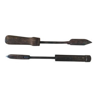 Primitive Soldering Iron Tools- A Pair For Sale