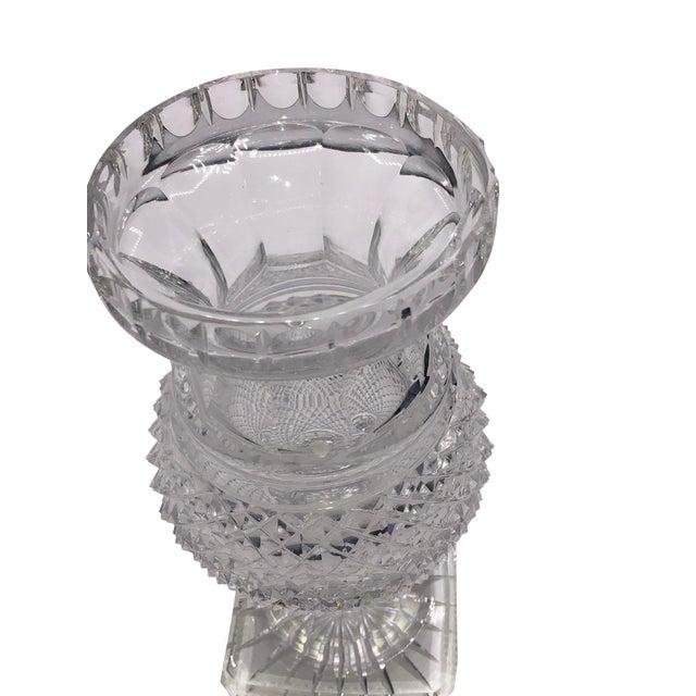 Antique English Regency Cut Crystal Vase For Sale - Image 4 of 7