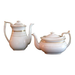 Spode Queen's Gate Teapot & Lid and Coffee Pot & Lid - a Pair For Sale