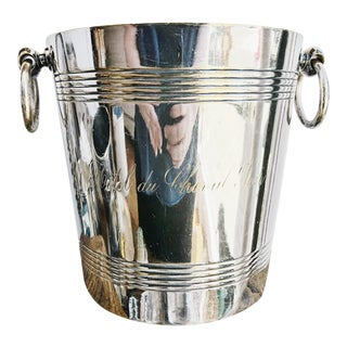 Vintage Silver Plated Champagne Bucket From Hotel Du Cheval Noir For Sale