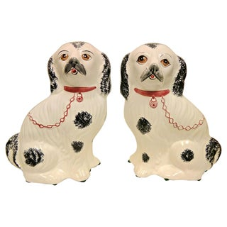 Portugese Staffordshire Style Dogs - A Pair