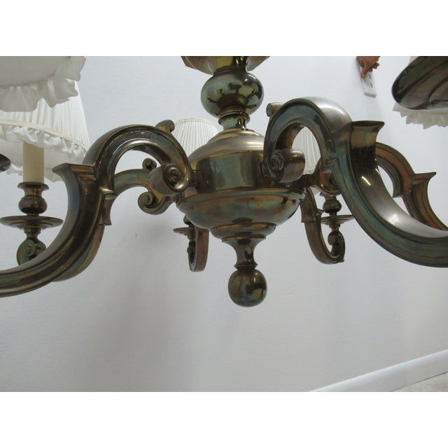 1974 Vintage Chapman Brass French Monumental Chandeliers - a Pair For Sale - Image 11 of 13