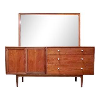 Kipp Stewart for Drexel Mid Century Dresser & Mirror For Sale