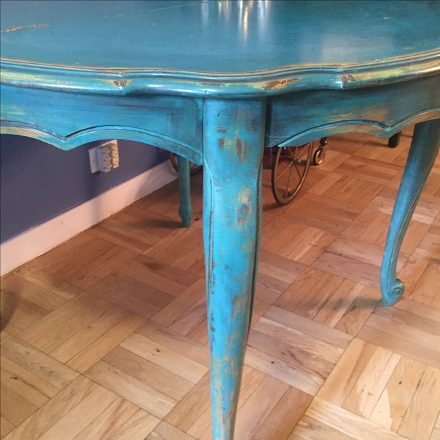 Vintage Distressed Dining Table - Image 5 of 7